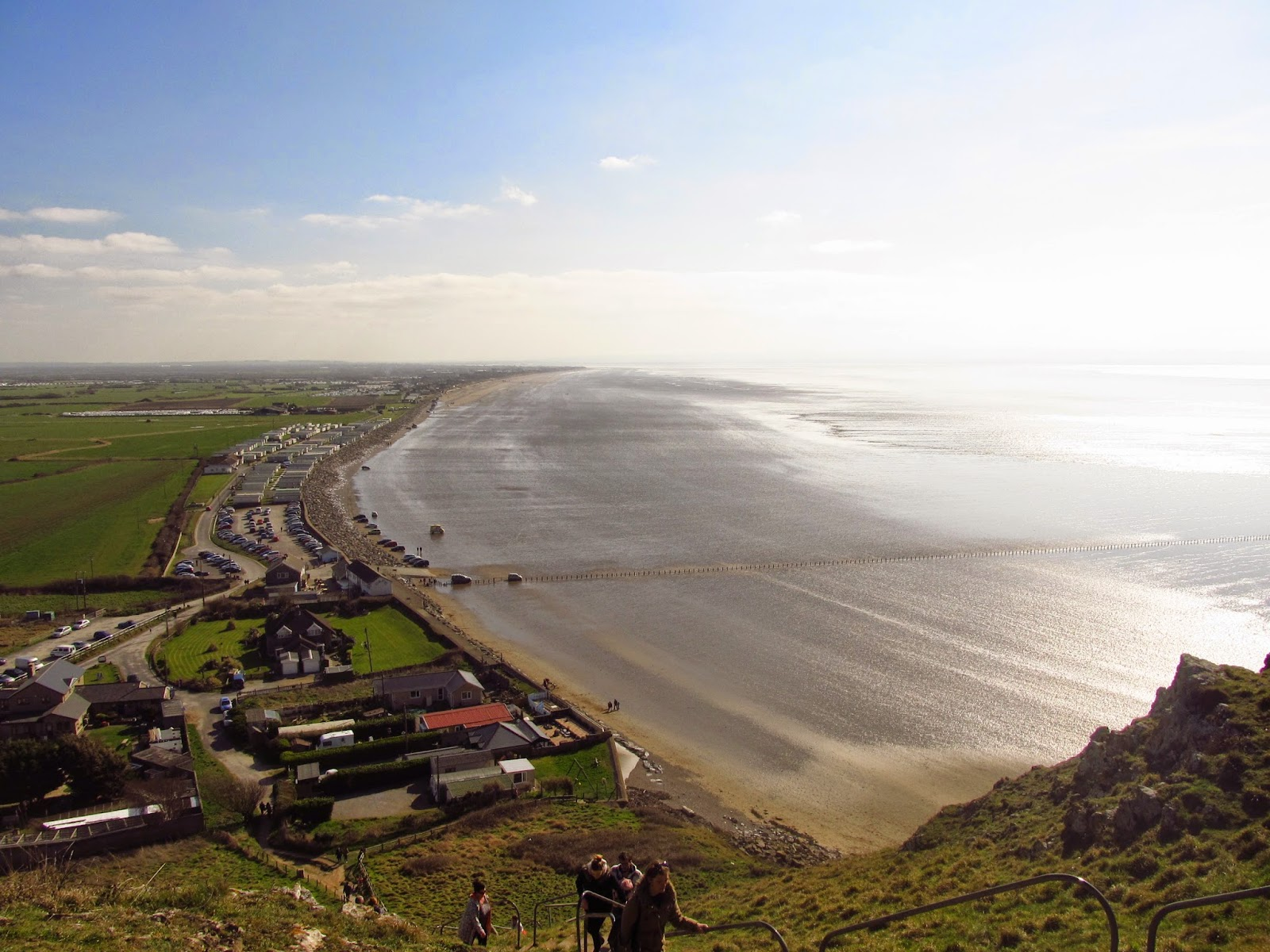 View of the beach from the top of Brean Down