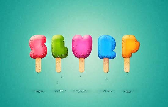 Teks Efek Style Ice Cream