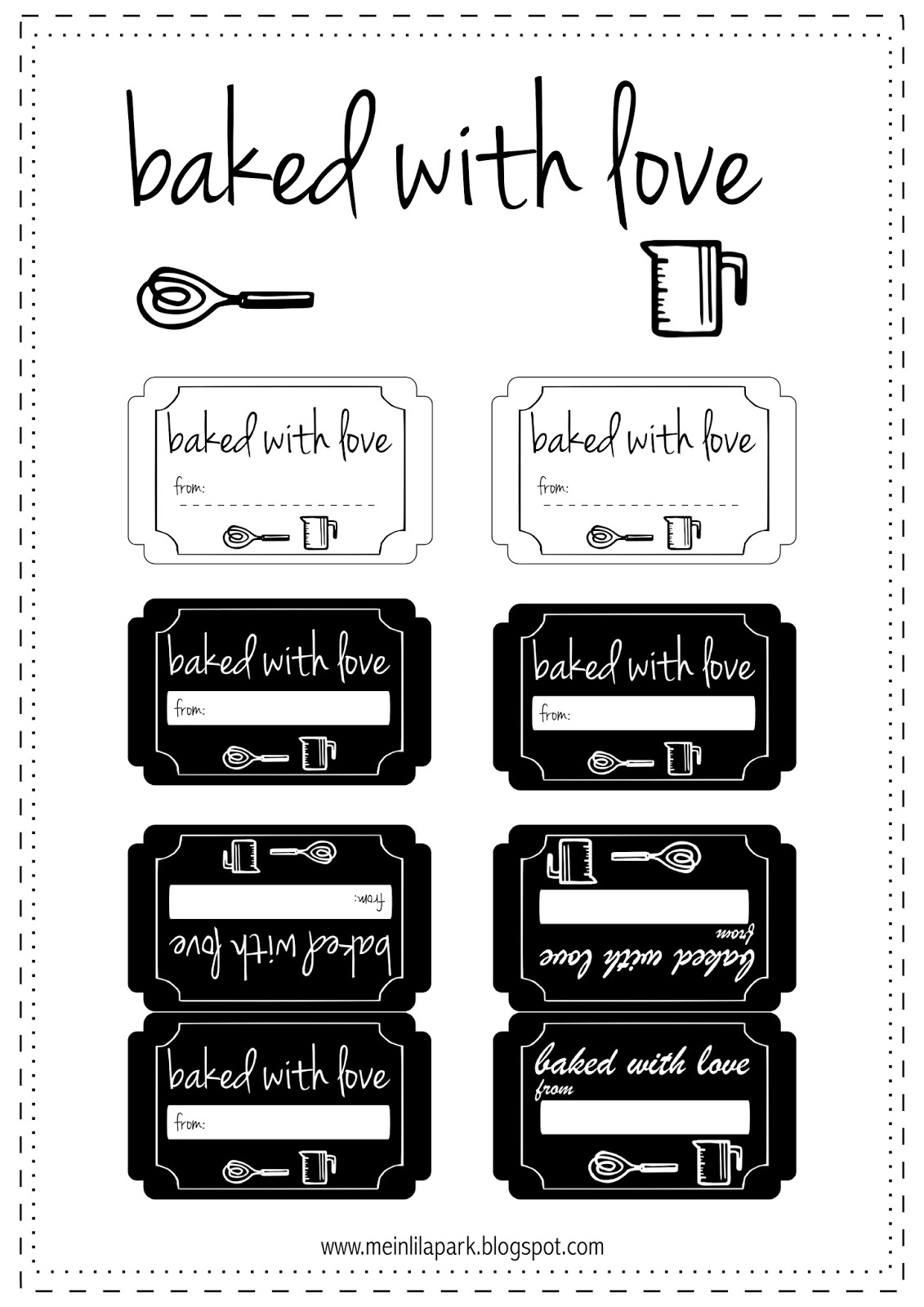 10 free printable cookie gift tags round up meinlilapark free printable baked with love tags negle Choice Image