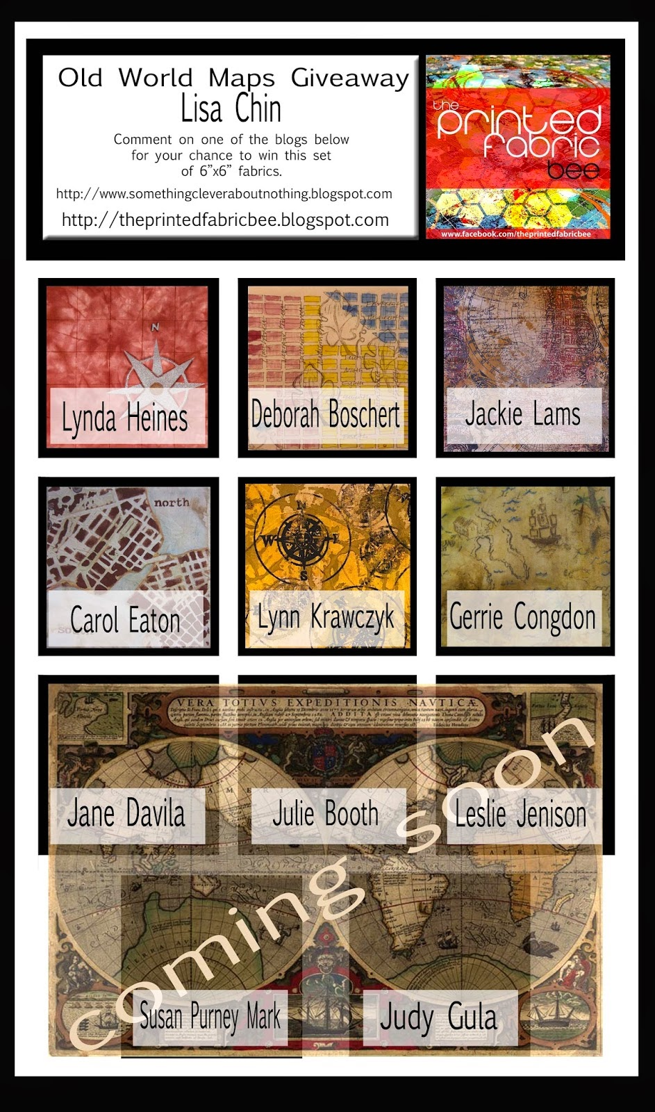 Carol r eaton designs old world maps the printed fabric bee old world maps the printed fabric bee giveaway gumiabroncs Images