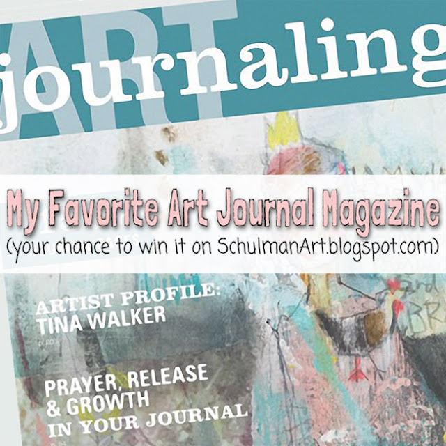 Art Journaling Magazine Giveaway | Enter to win here → http://schulmanart.blogspot.com/2016/01/my-favorite-art-journaling-magazine.html