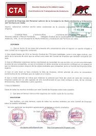 Reiteramos al Comité de Empresa la solicitud de copia de los escritos relacionados con las condicio