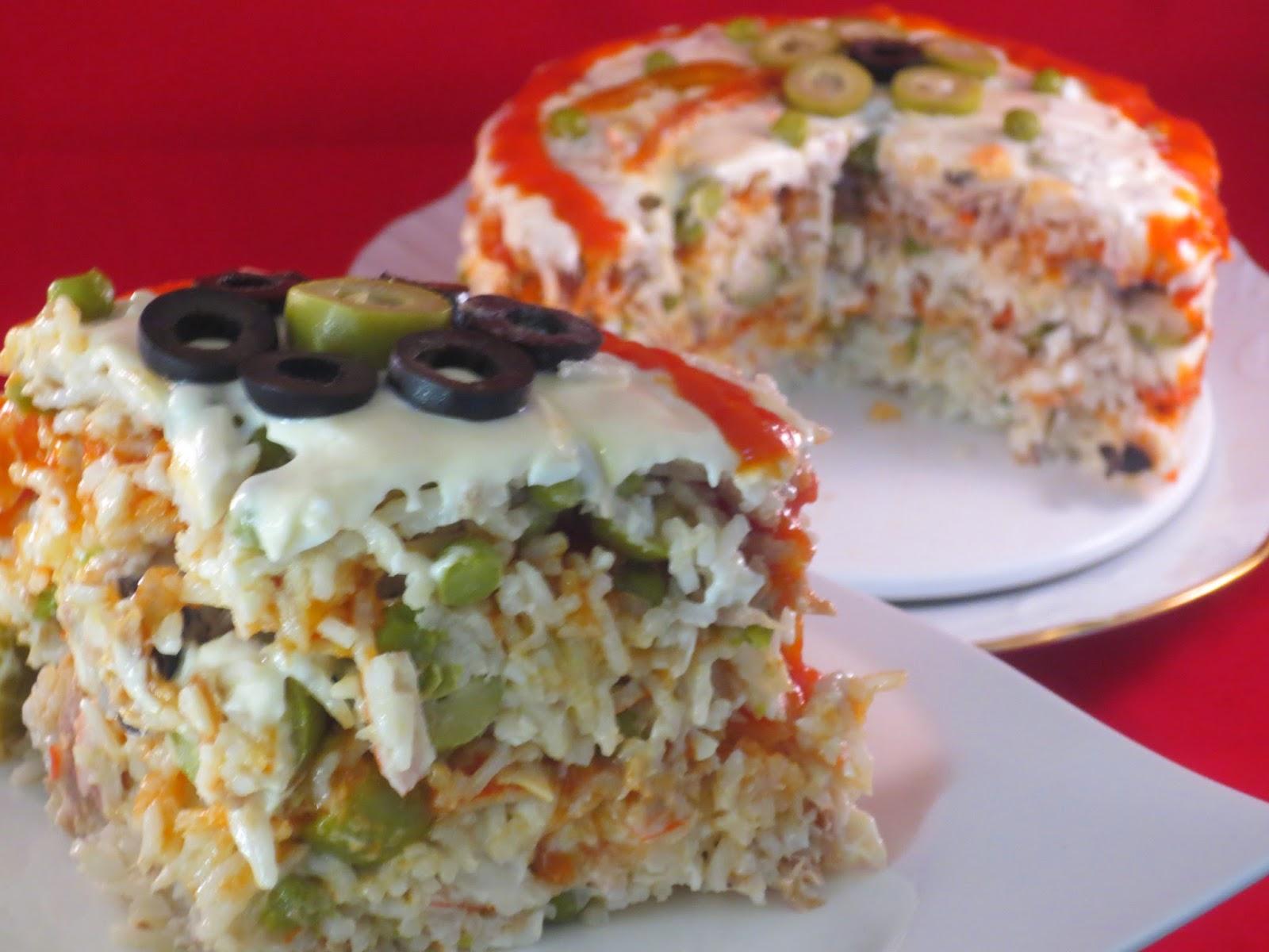 Pastel de ensalada de arroz thermomix - Ensalada de arroz light ...