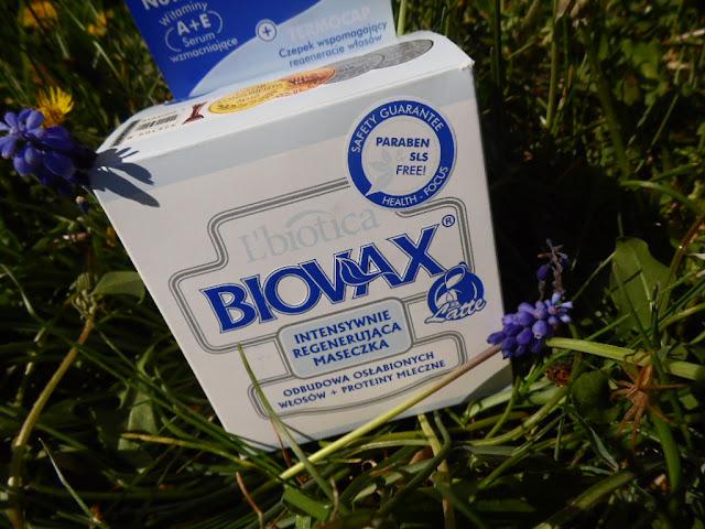 L'biotica Biovax Latte| Intensywnie regenerująca maseczka odbudowa osłabionych włosów + proteiny mleczne