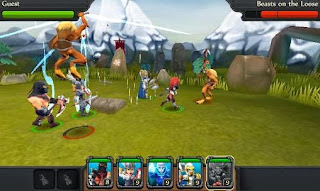 Screenshots of the Party of heroes for Android tablet, phone.