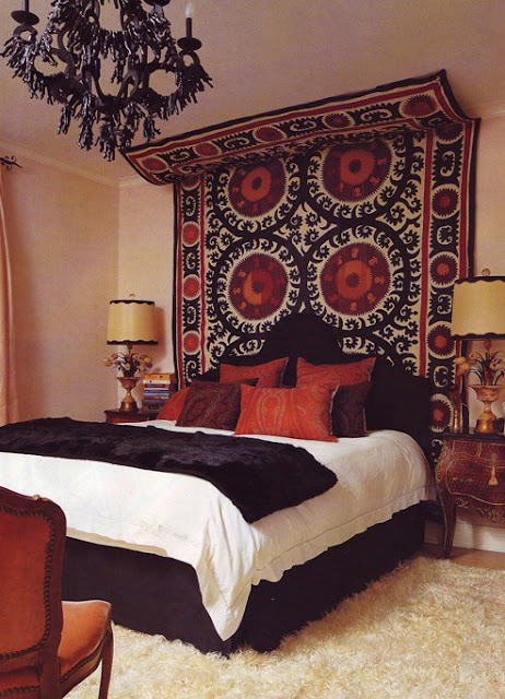 Love This Bohemian Glam Boudoir With The Suzani Print Tapestry