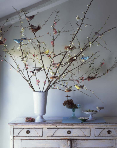 Rosaline easter at home for Tree branch decorations in the home