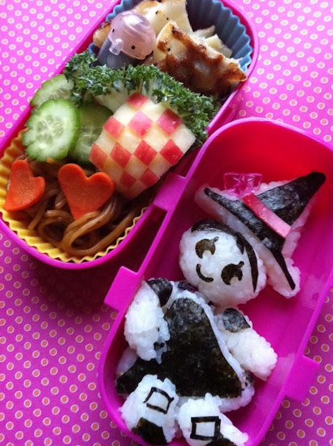 Witch Bento, Food, 魔女弁当、やきそば、魔女のおにぎり