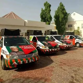 Atiku's fleet of 2019 PDP campaign buses discovered in Niger