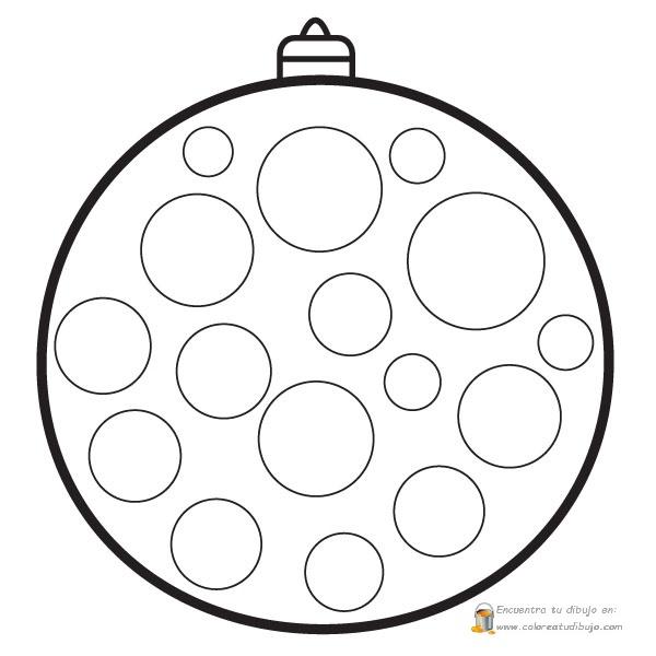 bolas de navidad con crculos para colorear pintar decorar e imprimir