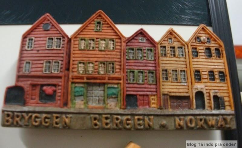 imã de geladeira de Bergen