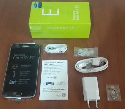 Samsung Galaxy E7 Kutu Açılımı