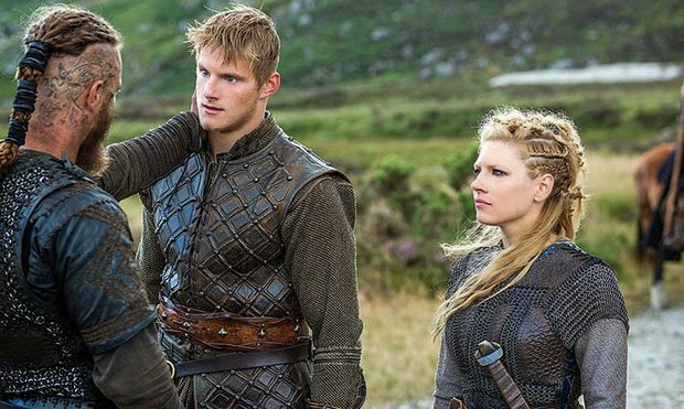 Ragnar, Lagertha and Bjorn are ready for season 3 of Vikings