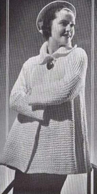 "The Vintage Pattern Files: Free 1930's Knitting Pattern - A ""Jiffy"" Coat"