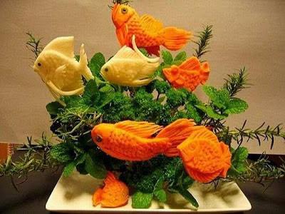 Món ăn ngon hơn với nghệ thuật cắt tỉa, trình bày đẹp