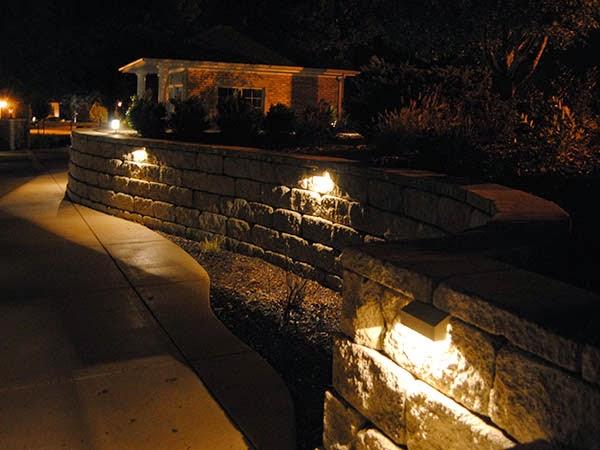 Light Up Your Life Adding Lighting To Retaining Wall