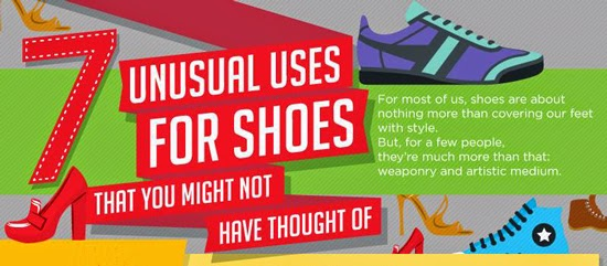 7 UNUSUAL USES FOR SHOES THAT YOU MIGHT NOT HAVE THOUGHT OF