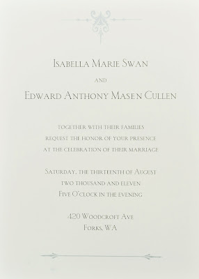 Invitation au mariage - Twilight 4 Rvlation