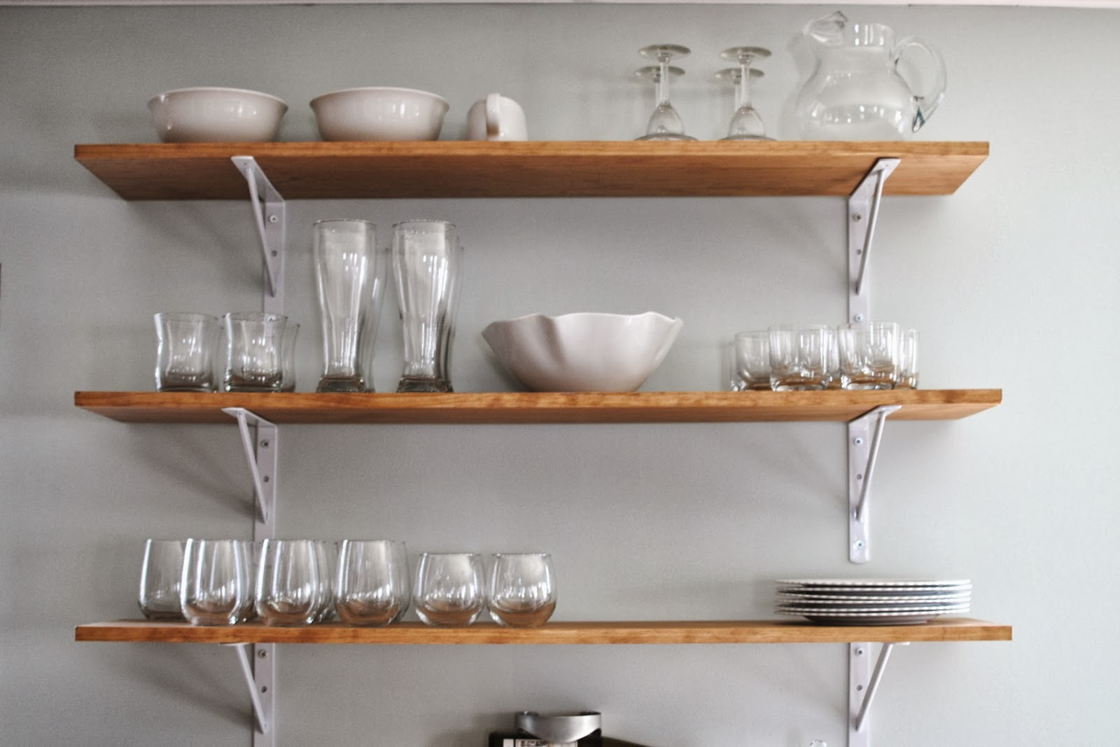 Decorative Kitchen Shelf Shelving Fixer Upper A Craftsman Remodel For Coffeehouse Owners