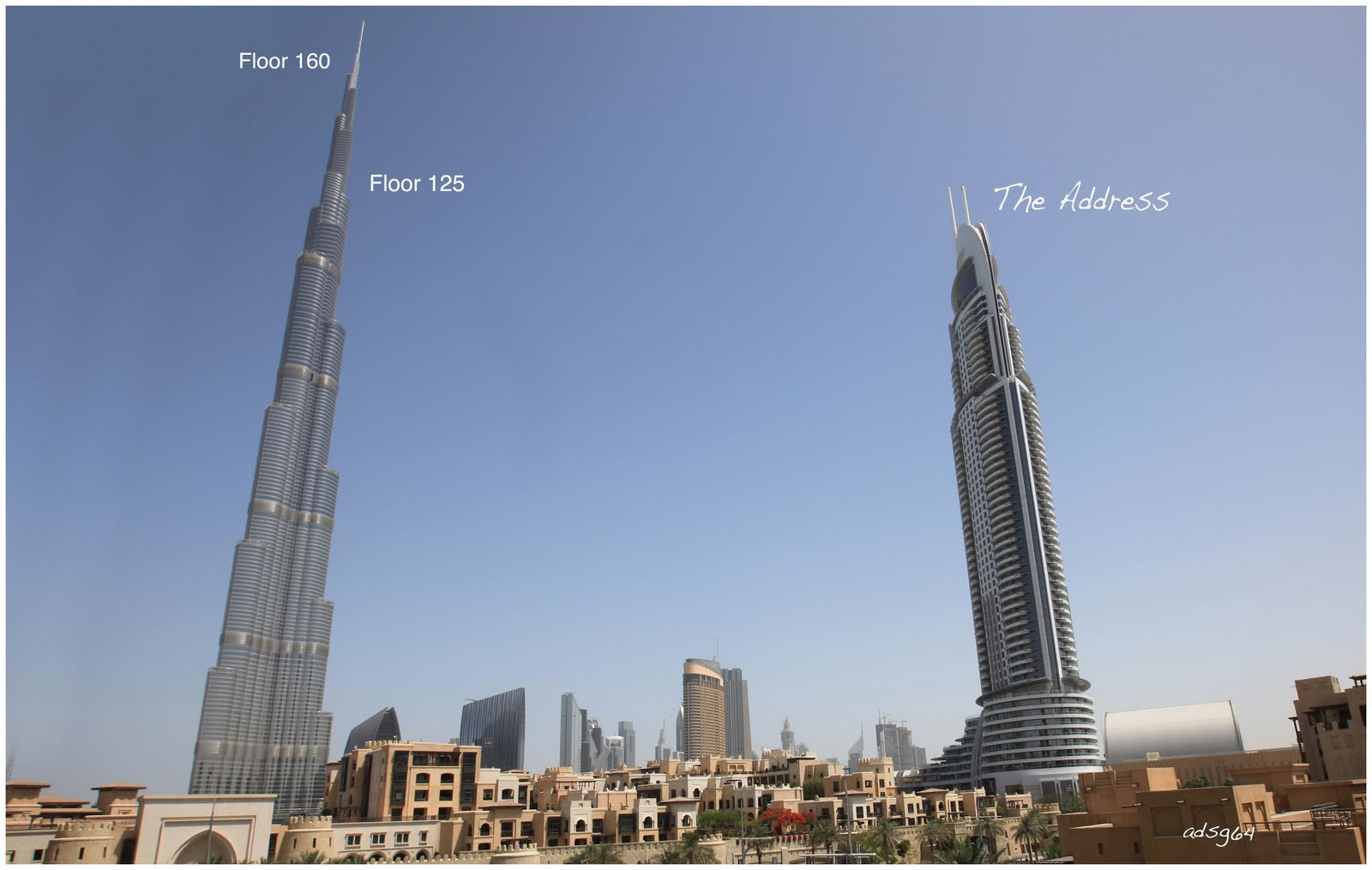 The best places to visit on planet earth view from for Burj al khalifa how many floors