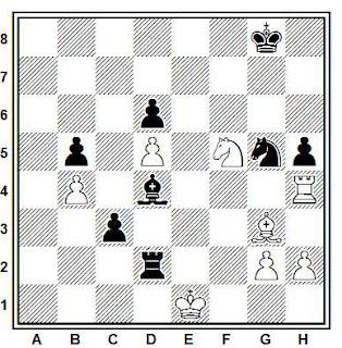 Problema ejercicio de número ajedrez 834: Akopov - Glek (Correspondencia, 1988)