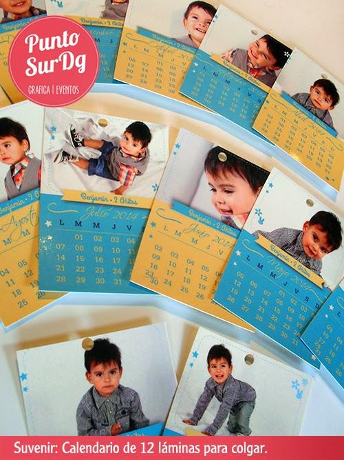 suvenir calendario cumpleaños nene