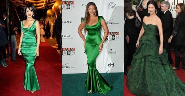 Макияж под цвет зелёного платья