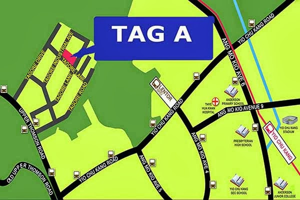 Tag A 81 @ Tagore Lane Location Map