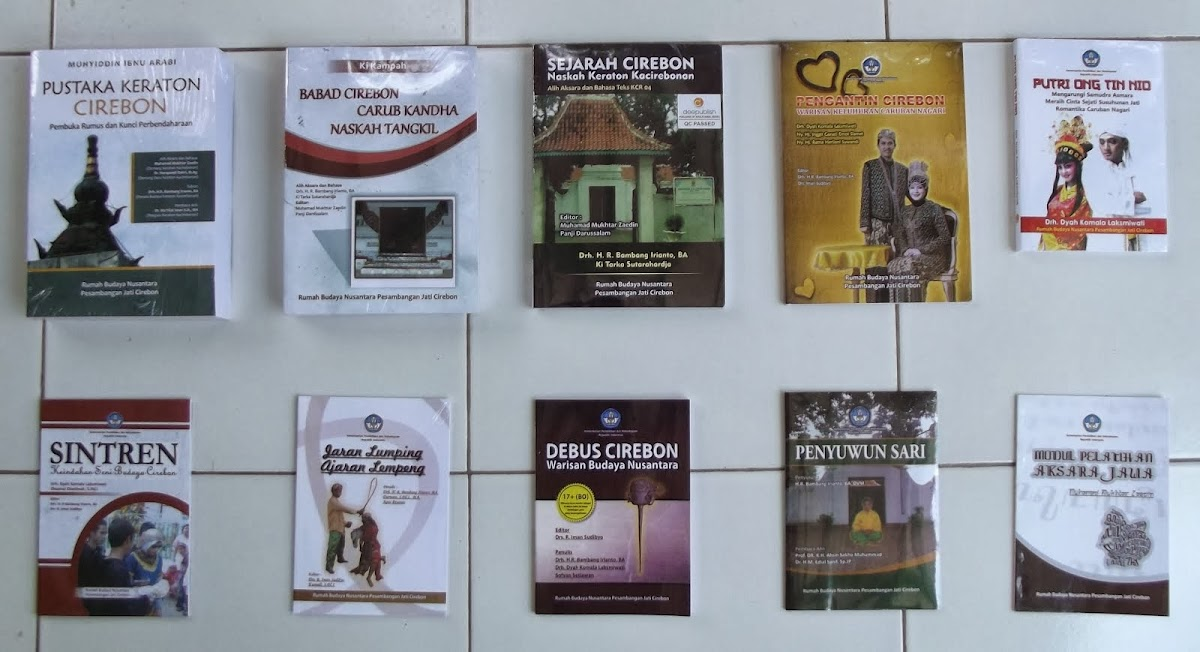 Buku-buku Terbitan Rumah Budaya Nusantara Peambangan Jati Cirebon