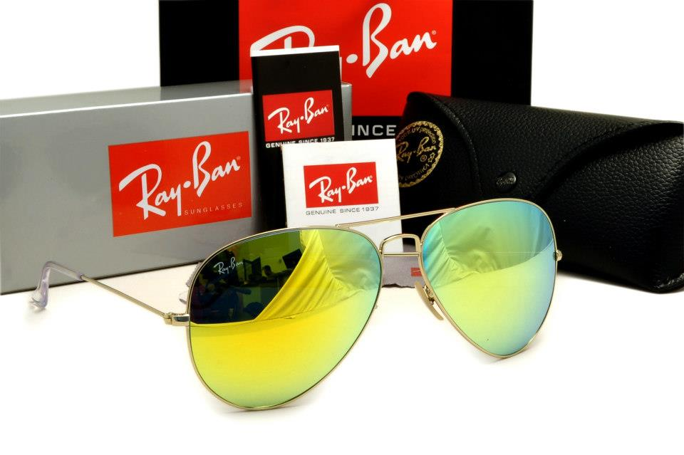 ray ban aviator yellow glass  ray ban aviators medium