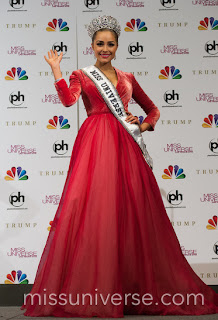 Miss Universe 2012 in Beauty Red Gown