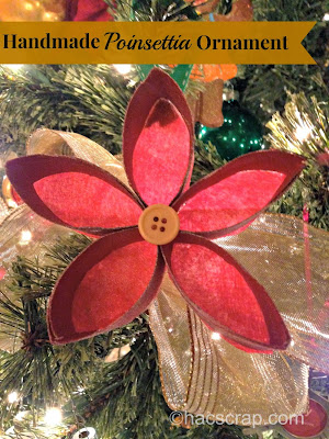 Handmade Poinsettia Ornament
