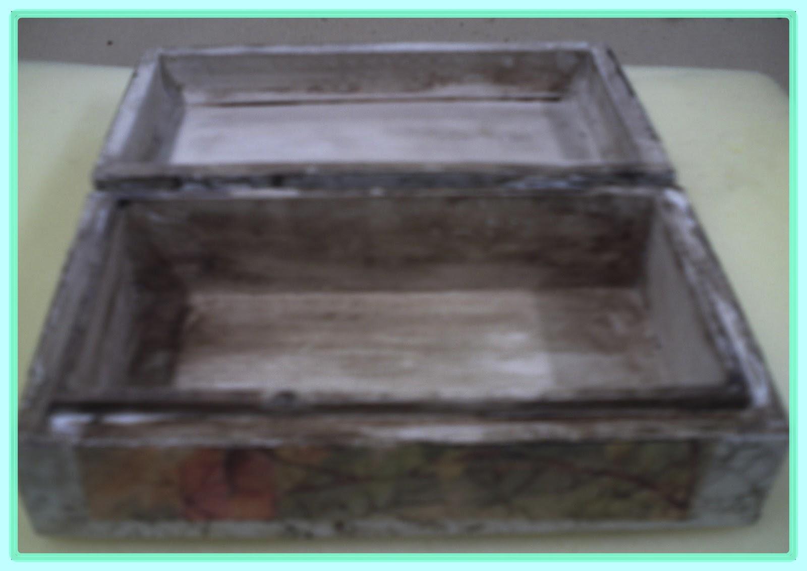 Simplemente manualidades caja de madera craquelada - Cajas de madera manualidades ...