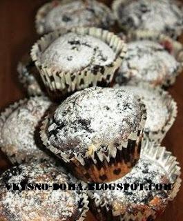 Кексы с черникой и белым шоколадом