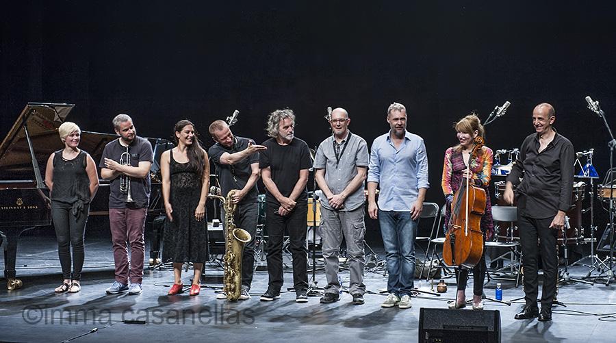 Agustí Fernández Celebration Ensemble amb Sònia Sánchez, Mercat de les Flors, Sala Ovidi Montllor, Barcelona 20-7-2015