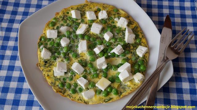 omlet z serem feta