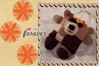 crochet fudgie flowerumi bear