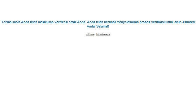 verifikasi email akun 4shared