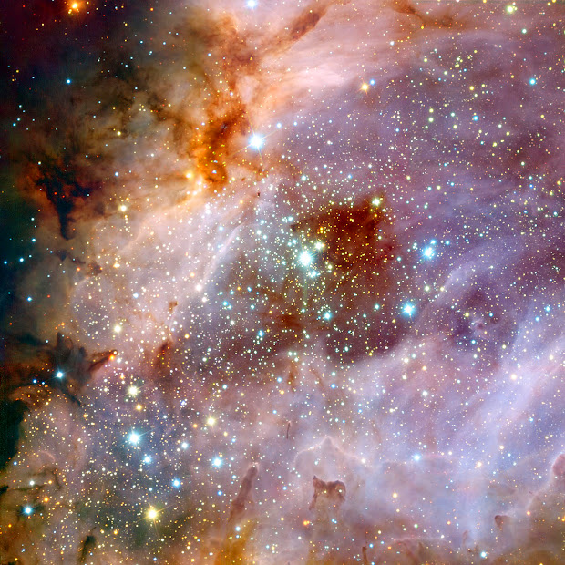 M17, the Omega Nebula, pictured by the Very Large Telescope