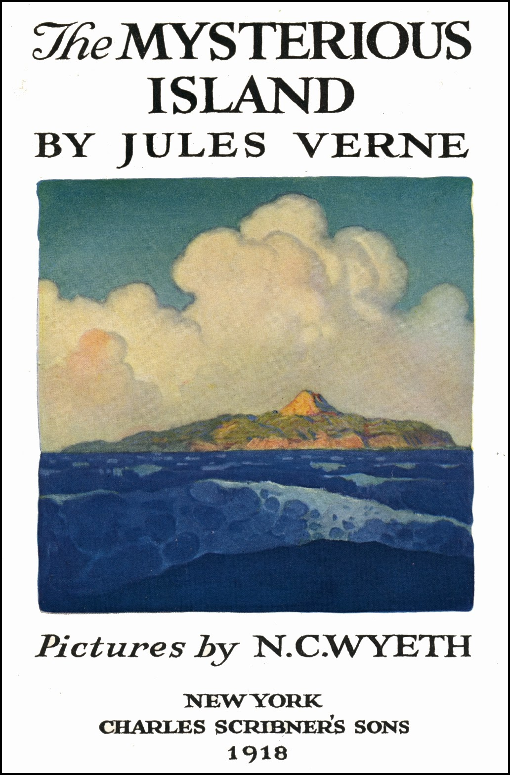 n c wyeth the mysterious island by jules verne 1918. Black Bedroom Furniture Sets. Home Design Ideas