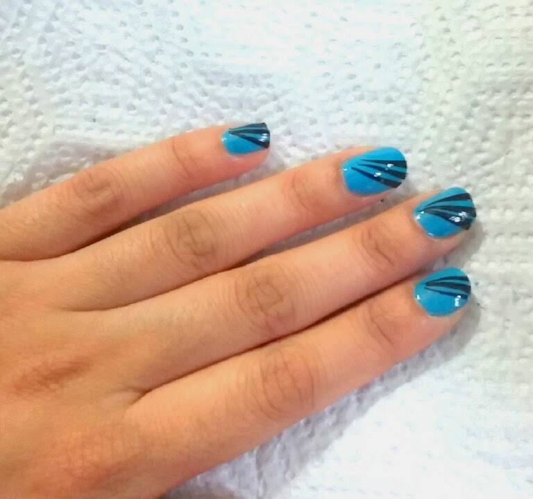Easy Party Nail Art for Beginners (Blue and Black) - Health care ...