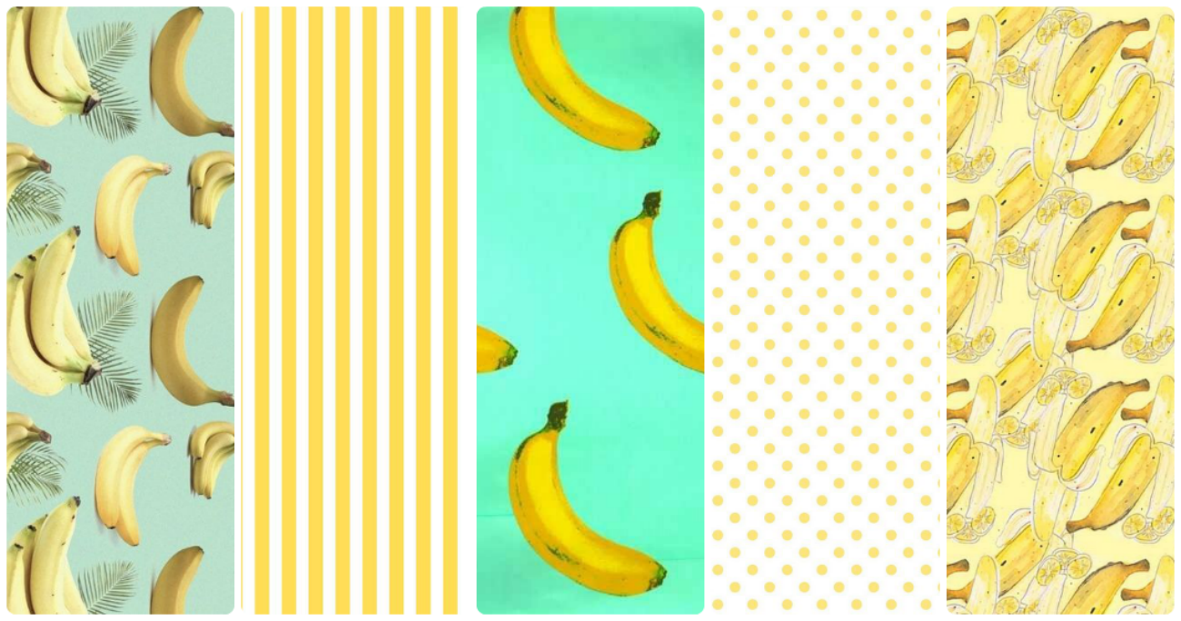 fondos de pantalla whatsapp banana pattern plátano líneas horizontales y polka dots yellow lunares whatsapp iphone android free bonitos