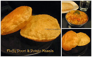 Fluffy Poori and Potato Masala
