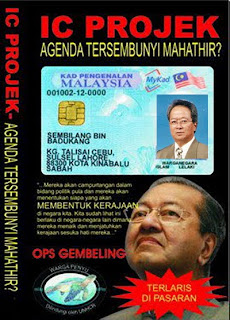 mahathir beri IC pendatang tanpa izin sabah
