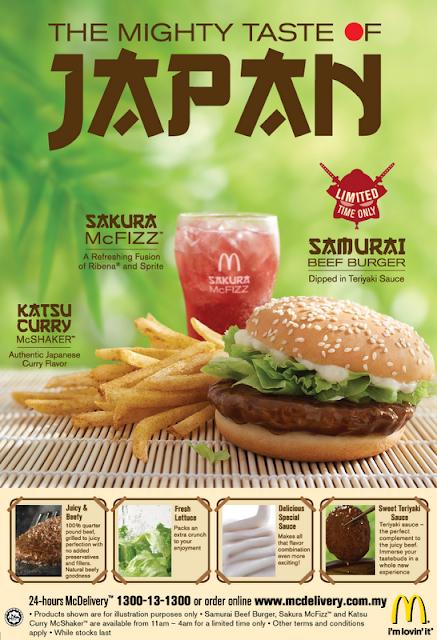 McDonald's Samurai Burger Kembali