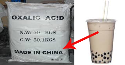 Milk Tea Ergo Cha Oxalic Acid
