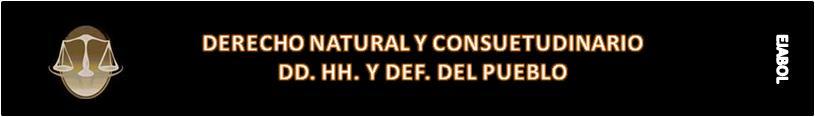 DERECHO NATURAL Y CONSUETUDINARIO