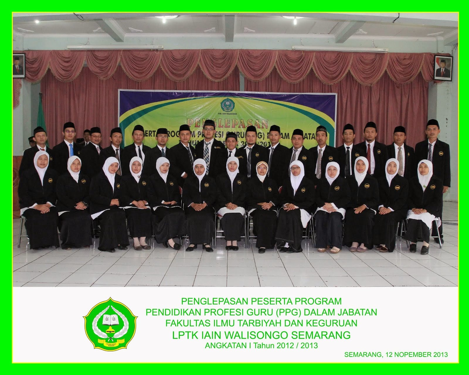 Pendidikan Profesi Guru (PPG) Dalam Jabatan Mapel Fiqih IAIN Walisongo Semarang Angk I Th.2012/2013