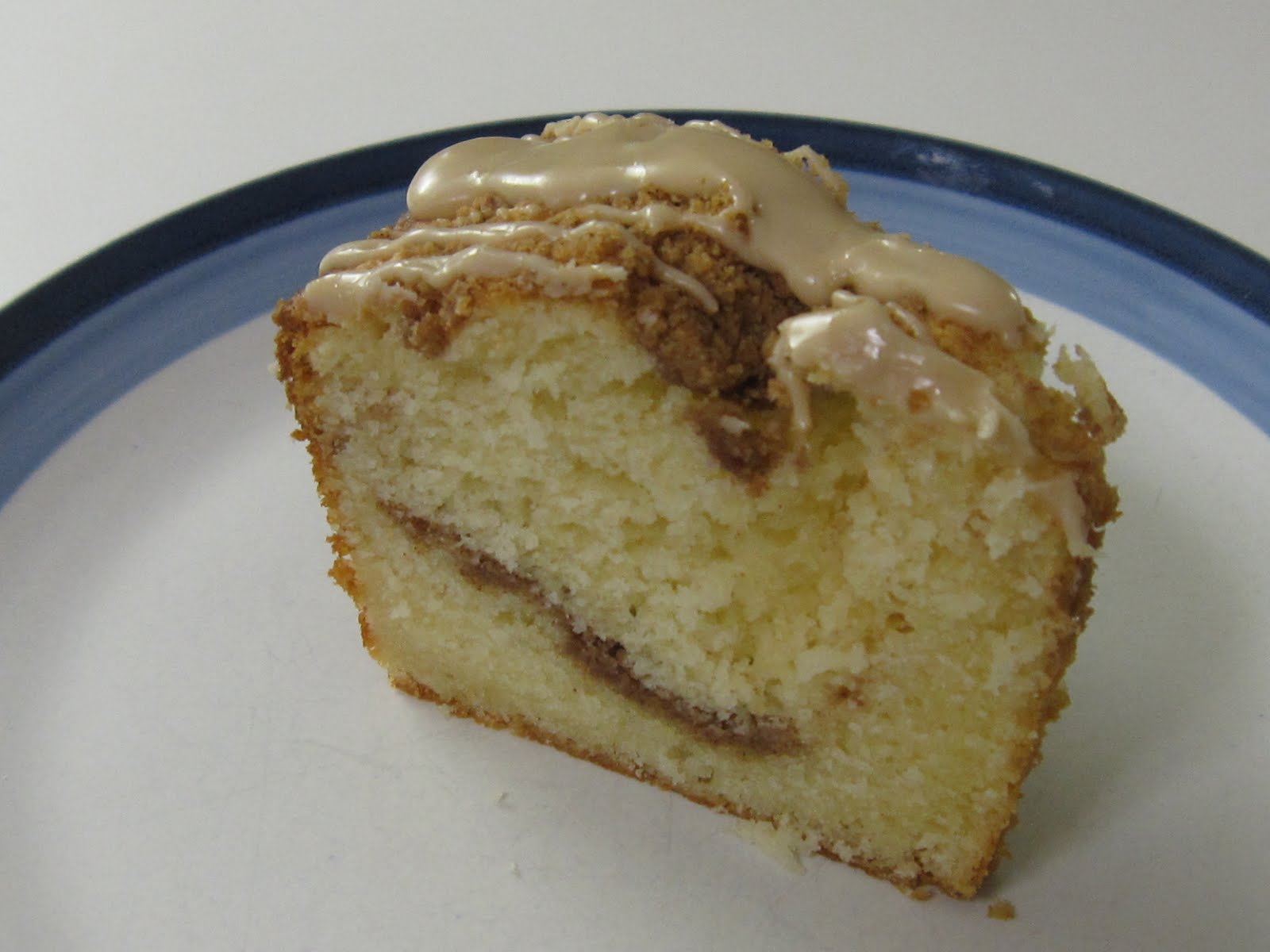 Light Swirl Coffee Cake With Maple Glaze Recipe — Dishmaps