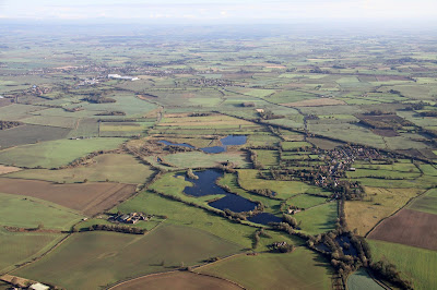 Aerial shot of Staveley Reserve